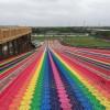 彩虹滑道好评多多 网红七彩滑道高效引流项目
