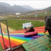 户外无动力彩虹滑道 游客爱玩四季不打烊 七彩滑道