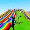 七彩滑道免费规划设计 小投资大回报的 亲子彩虹滑道