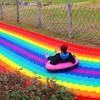 户外大型波浪彩虹滑道设计 小投资高收益 七彩滑道设备